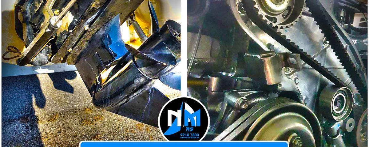 VI GJØR JOBBEN FOR DEG · Bestill Service/Vedlikehold/Reparasjon på motor og gir og få mest mulig utav båtsesongen · RING 9910 7800